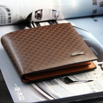 Mens Leather Wallets Male Purse Fashion Card Holders For Male - intl