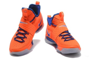 Men's Lebron 14 Basketball Shoes Orange / blue - intl - 5