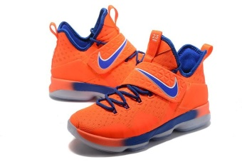 Men's Lebron 14 Basketball Shoes Orange / blue - intl - 2