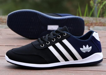 Men's new sports shoes summer breathable casual shoes (black) -intl - 4