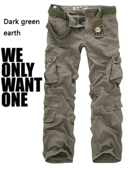 Mens Pants Military Army Cargo Multi-pocketed Camouflage CasualTrousers - intl
