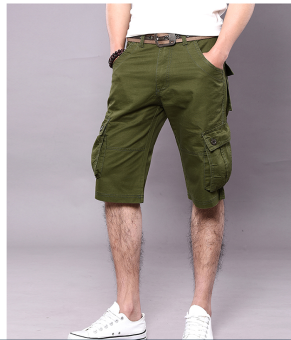 Men's Six Pocket Cargo Short (Army Green) - 3