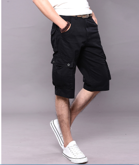 Men's Six Pocket Cargo Short (BLACK)