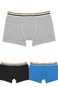 Men's Solid Underwear Modal Boxer Briefs Shorts 3 pcs. (Multicolor)