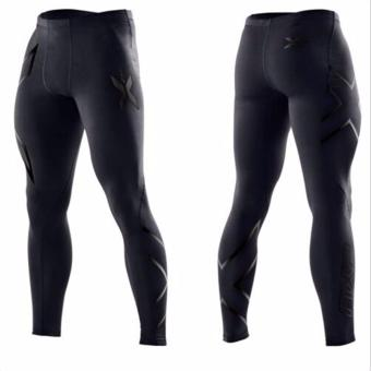 Men's Sports Fitness Running Pants Breathable Cycling TightPants-black - intl