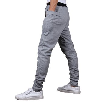 Mens Sweatpants Jogging Tracksuit Bottoms HIP HOP Jogger Sport Sweat Pants Gray - 5