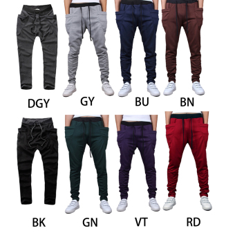 Mens Sweatpants Jogging Tracksuit Bottoms HIP HOP Jogger Sport Sweat Pants Gray - 2