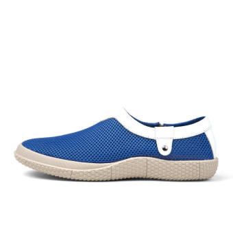 Mesh Mens Fashion Loafers - Blue - picture 2