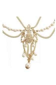 Metal Chain Jewelry Headband Head Hair Band Tassels Pearl - picture 2