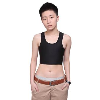 MG Breathable Buckle Short Chest Breast Binder Trans (White) - intl Price Philippines