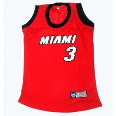 Miami Heat 3 Wade Basketball Jersey (Red)