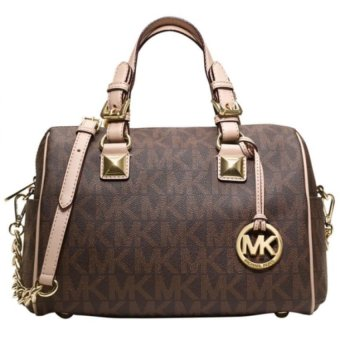 Michael Kors Grayson Signature Medium Satchel (Brown)
