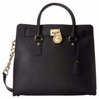 Michael Kors Hamilton Saffiano Leather Large Tote Bag - Black