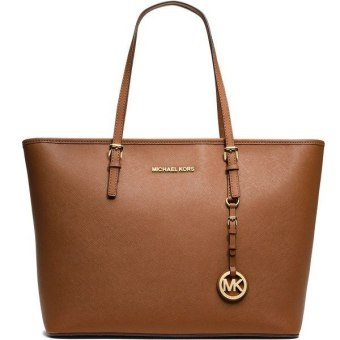 Michael Kors MC BOOK Tote Bag (BROWN)