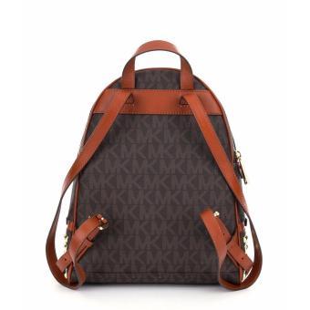 Michael Kors Rhea Zip Medium Studded Backpack - Brown - 4