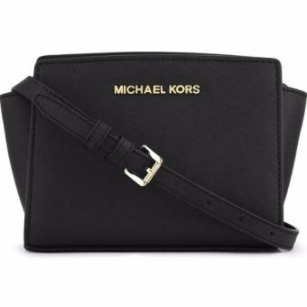 MICHAEL KORS Selma Mini Cross-body Satchel (BLACK)