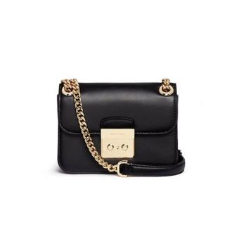 MICHAEL KORS Sloan Editor Medium Leather Shoulder Bag BLACK