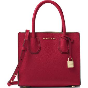 MICHAEL KORS STUDIO Mercer MEDIUM Leather Crossbody RED