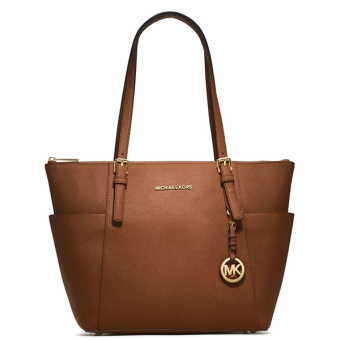 Michael Kors TOP-ZIP SIDE POCKET Medium (Brown)