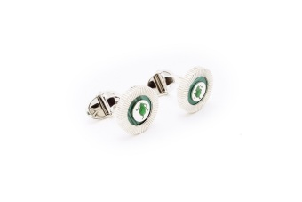 Miche Malachite Button Cufflink with Lion (Green) - picture 2
