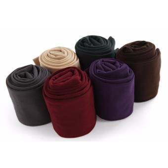 Microfiber Thermal Fleece Winter Warm Fitness Legging Spring AutumnWinter Modal Leggings Women's Stretch Cotton Candy Color TrousersWomen Sexy Leggings (brown) - 4