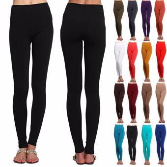 Microfiber Thermal Fleece Winter Warm Fitness Legging Spring AutumnWinter Modal Leggings Women's Stretch Cotton Candy Color TrousersWomen Sexy Leggings (brown) - 3