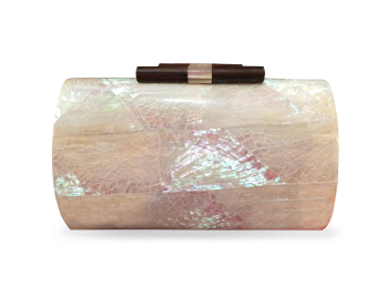 Mika and Gela Estelle Shell Clutch Bag (White)