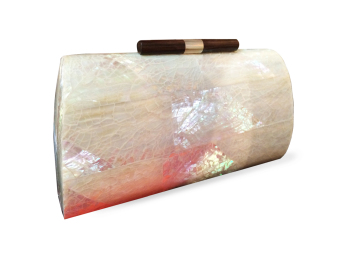 Mika and Gela Estelle Shell Clutch Bag (White) - picture 2