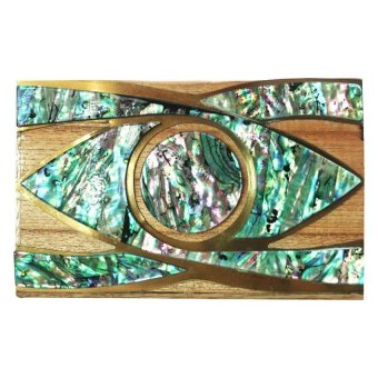 Mika and Gela Oculus Clutch Bag (Green / Brown) - picture 2