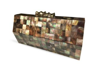 Mika and Gela Ruth Shell Clutch Bag (Brown)