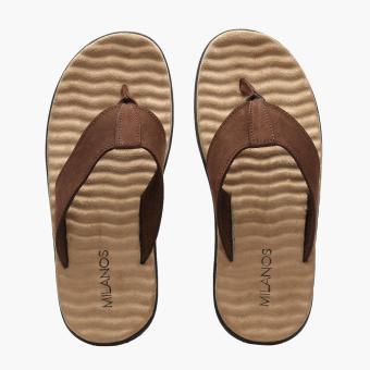 Milanos Mens Elon Sandals (Brown) - 5