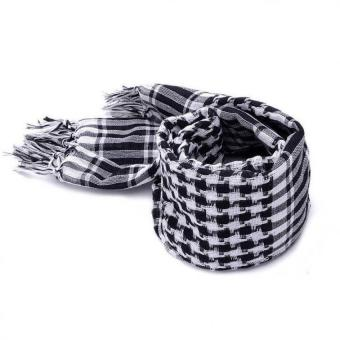 Military Men Scarves Tactical Lattice Scarf Black - intl