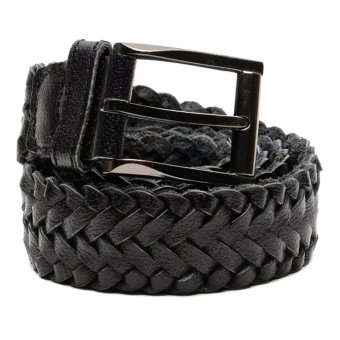 Mj By Mcjim Braided Leather Belt (Black)