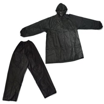 MMC 099 Water Proof Outdoor Jacket and Pants Rain Coat (Black)