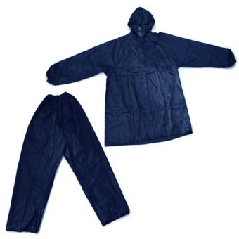 MMC 099 Water Proof Outdoor Jacket and Pants Rain Coat (Blue)