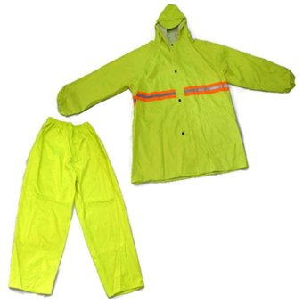 MMC H-908 Water Proof Outdoor Jacket and Pants Rain Coat (NeonGreen)