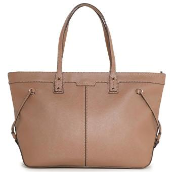 MNG Mango Carry All Saffiano Shopper Bag (Beige)