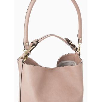 MNG Mango Pebbled Crescent Hobo Bag (Beige) - 2