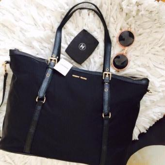 MNG Mango Tessuto Shopper Zip Tote Bag (Black) - 2