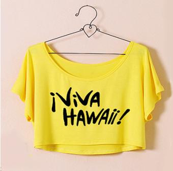Modal sun-blocking Plus-sized Top T-shirt (Yellow)