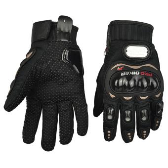 Moonar Full finger Gloves Motorcycle Riding Sports Gloves Black