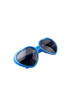 Moonar Heart Shape Sunglasses Sky Blue