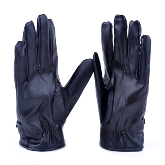 Moonar Mens Winter Warm PU Leather Soft Full Fingers Gloves - picture 2
