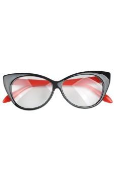 Moonar Women Cat's Eye Sunglasses Black And Red