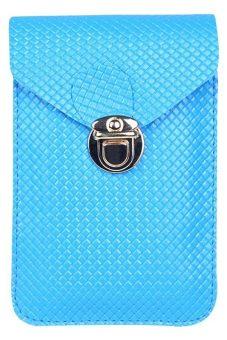 Moonar Women's Crossbody Shoulder Bags Mini Phone Bag Purse (Blue)
