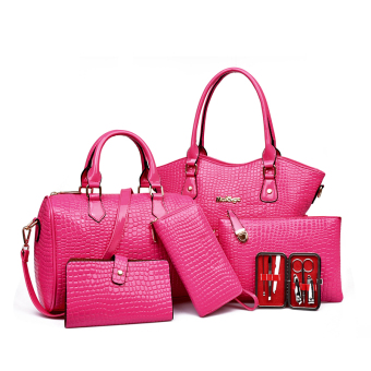 Mother's day spring and summer New style shoulder bag different size bags (Rose color 3302)