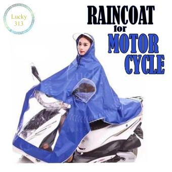Motorcycle Raincoat Moto Rain Coat (Blue)