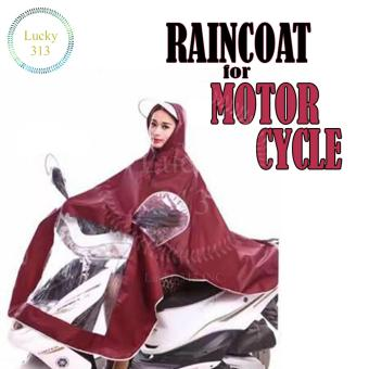 Motorcycle Raincoat Moto Rain Coat (Maroon)