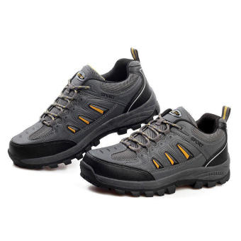 Mountaineering Sporty Men Sneakers - Grey - picture 2
