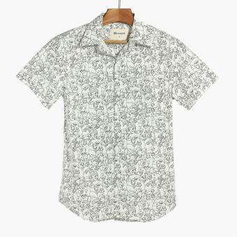 Mr. Smyth Boys Teens Graphic Pattern Casual Shirt (White)
